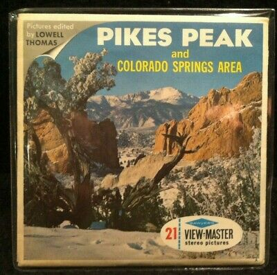 Vintage View-Master Reels Set ~ Pikes Peak and Colorado Springs Area