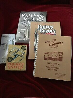 Official Guide To Pocket Knives Parker/Razors Collectors Guide Handbook Book Set