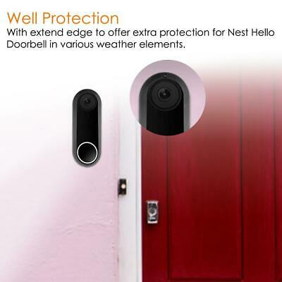 Wall Mounted Plate Case Cover For Nest Hello Doorbell Holder W/ Adjustable Wedge