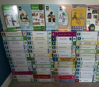 Cricut Cartridges LOT - all Linked - great condition *Some Rare/Discontinued