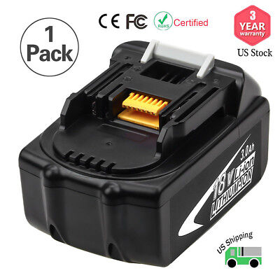 3.0Ah Replace for Makita BL1830 18V LXT Lithium‑Ion Battery BL1860 BL1850 BL1840