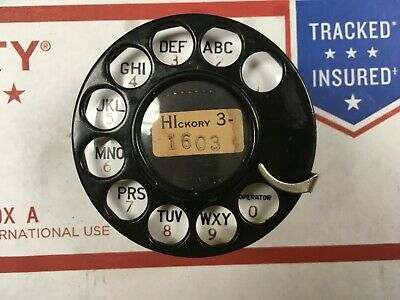 western electric telephone #2AB dial w/132-B porcelain plate (HIckory 3-1603)