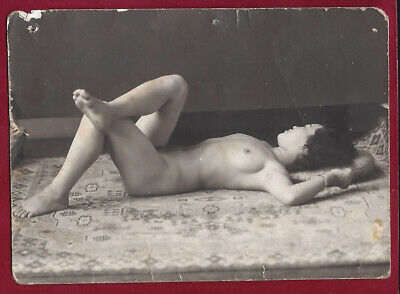 1940's WW2 Era Vintage Nude Photo~Perky Breasts Curvaceous Japanese Asian Pinup