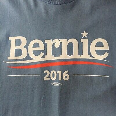 two sided BERNIE SANDERS 2016 t-shirt-JOIN REVOLUTION--union made USA--NEW--(XL)