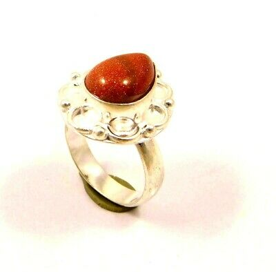 Charming Sunstone Silver Designer Jewelry Ring Size 8 JC6357