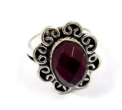 Garnet .925 Silver Awesome Designer Ring Jewelry Ring Size 9.5 JC7826