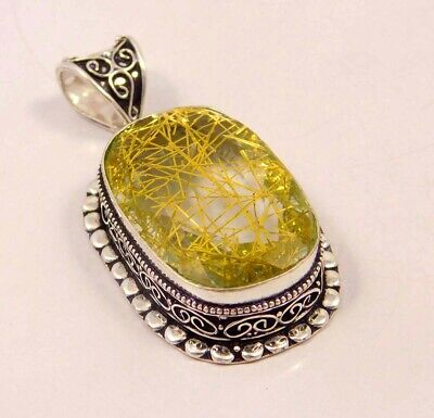 Golden Needle Rutlie .925 Silver Plated Hand Carving Pendant Jewelry JC6640