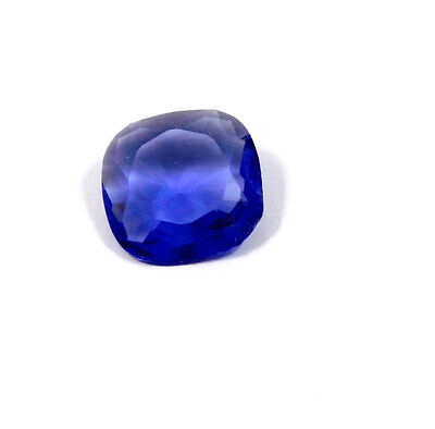 13 Cts. Natural Faceted Cushion Shape Blue Hydro Cut Gemstone AAK1443