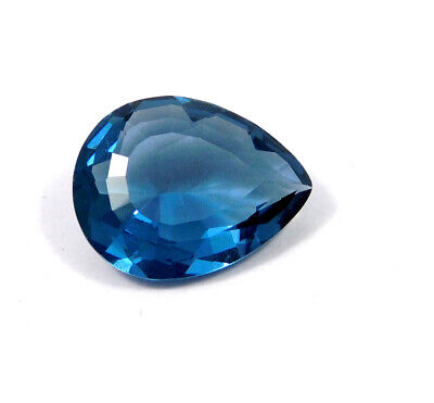 21 Cts. Natural Faceted Pear Shape Blue Hydro Cut Gemstone AAK1398-1402