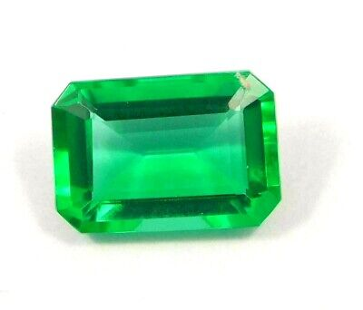 Treated Faceted Emerald Gemstone17CT 17x11mm NG16061
