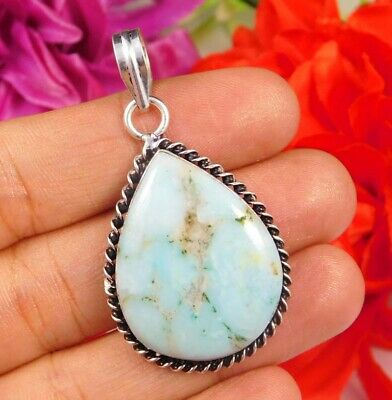 Dashing Turquoise .925 Silver Plated Handmade Pendant Jewelry JC2467