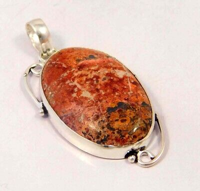 Crazy Lace Agate .925 Silver Plated Handmade Pendant Jewelry JC6104