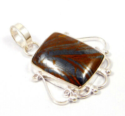 Tiger's Eye .925 Silver Plated Handmade Pendant Jewelry JC4774