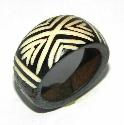 100% Natural Bone carving Designer Handmade Fashion Ring Size 9 Jewelry R672