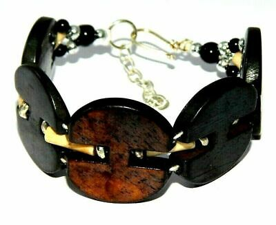 Graceful Fashion Painted Design Bone Bracelets With Chain Antique Jewelry B8