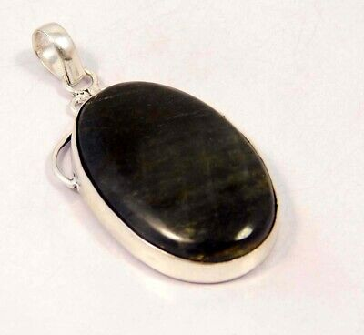 Black Tiger's Eye .925 Silver Plated Handmade Pendant Jewelry JC6116