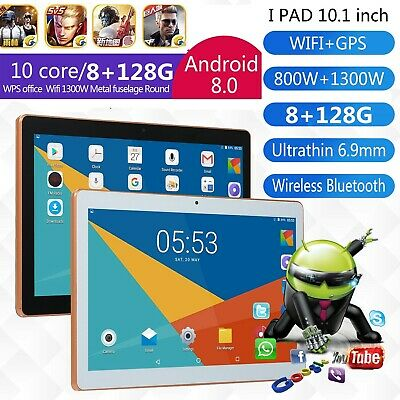"10.1"" Tablet PC 8G+128G 10 Core Android 8.0 Dual SIM &Camera Wifi Phone Phablet"