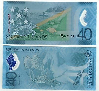 $40 SOLOMON ISLANDS BANKNOTE   $40 S.I  Issue 2018 Super Mint UNC