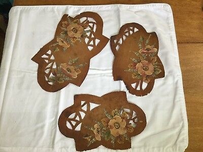 Australian Old Leather Placemats Hand Painted