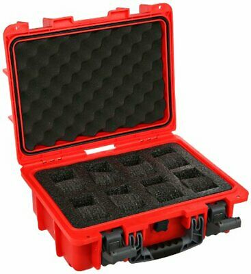 New Invicta (8) Eight Slot Impact Resistant Red Collector Dive Case/Watch Box