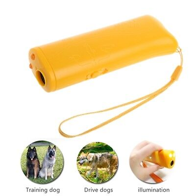 Anti Bark Stop Barking Dog 3 in 1 Ultrasonic Training Repeller Control Trainer
