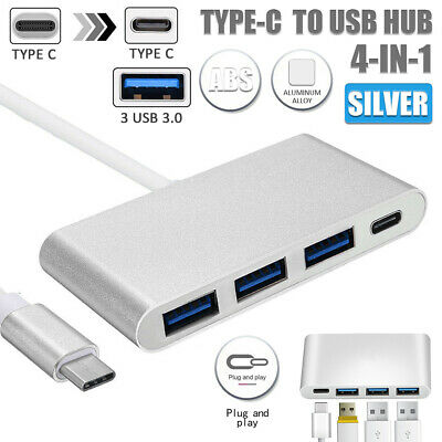 4in1 TypeC USB-C 3.1 to 4-Port Hub USB 3.0 Charging Adapter For Thunderbolt 3 AU