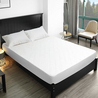 Full Size Bamboo Mattress Protector, Waterproof Pad Cover, Hypoallergenic