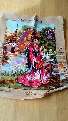 Completed Tapestry Canvas Collection D'Art Geisha 10411