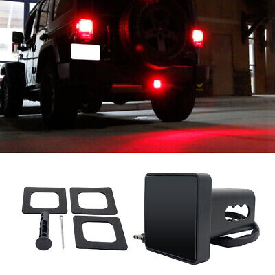 Smoked Lens 15-LED Brake Light Trailer Hitch Cover Fit Towing & Hauling