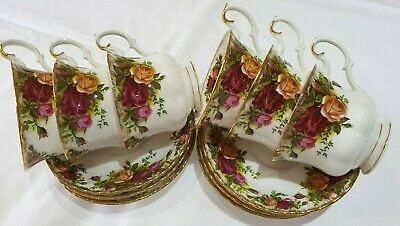 "Vintage Royal Albert ""Old Country Roses"" 6X Cups & Saucers Perfect Condition"