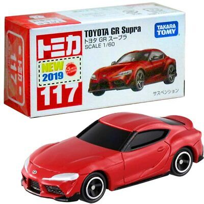 Takara Tomy Tomica #117 Toyota GR Supra Red Scale 1/60 Diecast Car Toy Mini
