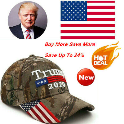 2019 Donald Trump 2020 Cap USA Flag Camouflage Baseball Cap Hat Make Great Best
