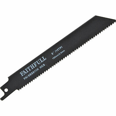 Faithfull S918E Metal Reciprocating Saw Blades 150mm Pack of 5