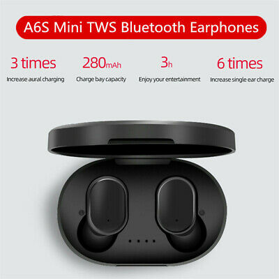 With Mic Bass Bluetooth 5.0 Wireless Earbuds TWS Earphone A6S Mi Airdots