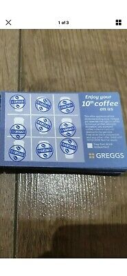 ☆GREGGS☆ 10 full cards dated until December 2019  £5