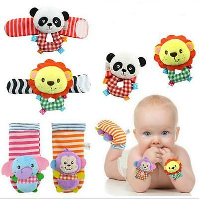 Multi Style Soft Toy Animal Baby Infant Kids Hand Wrist Foot Sock FA