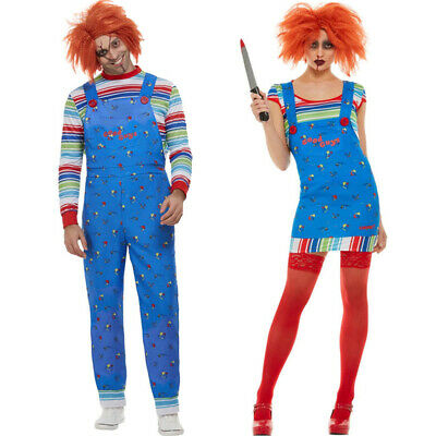 Couples Chucky Fancy Dress Official Costumes