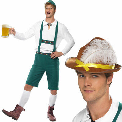 Mens Oktoberfest Lederhosen with Hat