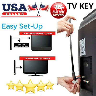 USA Clear TV Key 1080p HDTV 100 Digital Antenna Ditch Cable