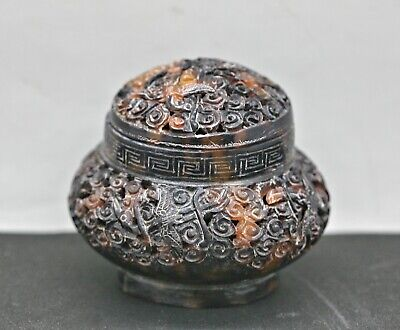 Rare Antique Chinese Hand Crafted Tortoise Shell Censer c1800s