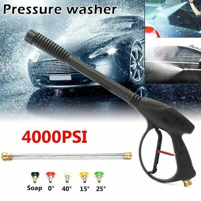 4000PSI High Pressure Car Washer Spray Gun Trigger Wand 5 Tip Nozzle