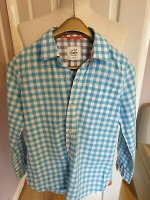 Superb Boys Designer Boden  Check Shirt Uk 9-10 Years Rrp £40.00