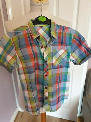 Superb Boys Designer Ted Backer Check Shirt Uk 8 Years Rrp £40.00