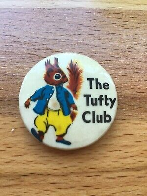 Vintage TUFTY CLUB metal Pin badge,Tufty fluffytail Squirrel,Kids Road safety