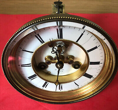 Hry Marc Antique French StrikingClock with Brocot Escapement/Pendulum/Bezel/Key