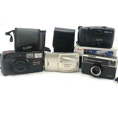 Point And Shoot Style Camera Bundle (4) Pentax,Olympus,Kodak And Panorama
