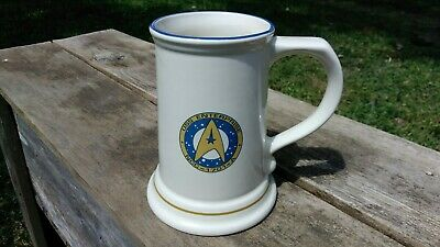 STAR TREK USS Enterprise NCC-1701-A Ceramic Stein Pfaltzgraff Beer Mug 16 oz.