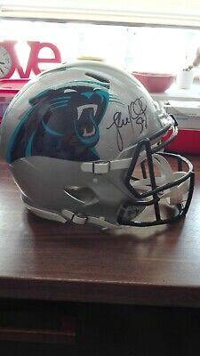 Casque NFL Authentique Football Américain Autographe Luke Kuechly