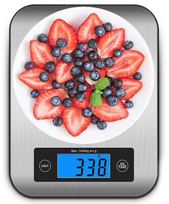 Ataller Digital Kitchen Scale Food Scales 10kg /1g /0.1lb Stainless Steel Scale