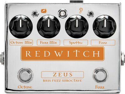 Red Witch Zeus Bass Fuzz Suboctave Pedal, Brand New in The box !